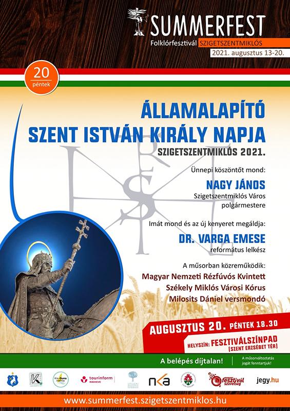 Augusztus 20-ai, Államalapító Szent István király napi ünnepség 2021